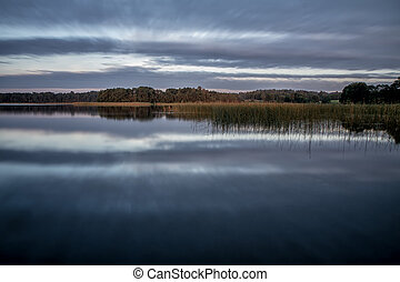 Lake in evening - Small lake in the evening, at sunset...