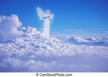Guardian amongst clouds angel in heaven - Guardian Angel...
