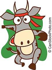 Runner cow vector art