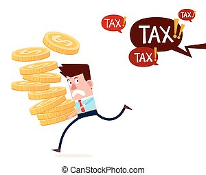 running away from paying taxes - young successful...