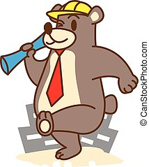 Architect bear vector