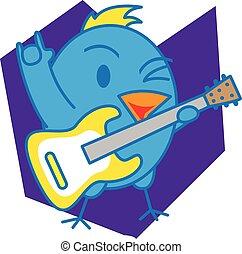 Blue bird vector art