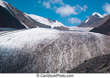 At the foothill of Big Aktru glacier. Altay mountains.