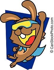 Super Rabbit vector art
