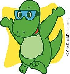 Dinosaur happy vector art