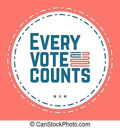varje, rösta, räknar, Typografiska, citera, om,...