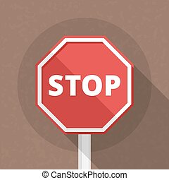 Stop Sign - Stop sign, flat design, vector eps10...