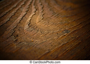 Wood texture background, shallow DOF.