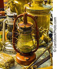 Icon lamp the fixture. old kerosene lamp