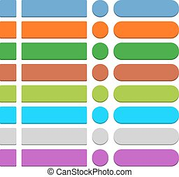 Flat empty web icon colored button - 32 blank icon in flat...