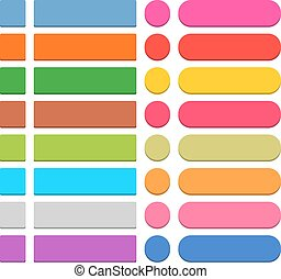 Flat blank web icon colored button - 32 blank icon in flat...