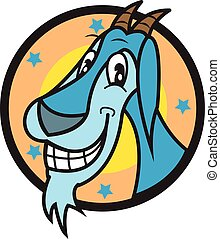 Smile Goat vector art