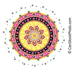 Indian New Year Pattern Icon