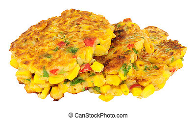 Sweetcorn And Chilli Pepper Fritter - Fried sweetcorn and...