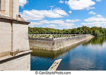 View from inside of Chateau de Chenonceau, France - View...