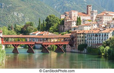 Bassano del Grappa Postcard - Il ponte sul Brenta, detto...
