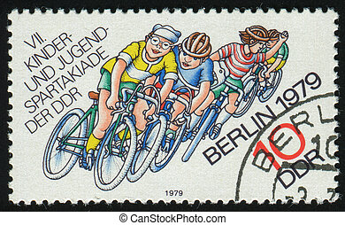 postmark - GERMANY- CIRCA 1979: stamp printed by Germany,...