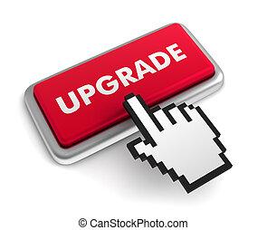 upgrade keyboard concept illustration