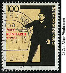 postmark - GERMANY- CIRCA 1993: stamp printed by Germany,...