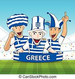 Greece Sport Fan Vector