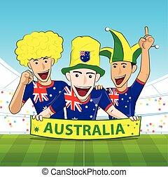 Australia Sport Fan Vector