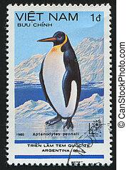 postmark - VIET NAM - CIRCA 1985: stamp printed by Viet Nam,...