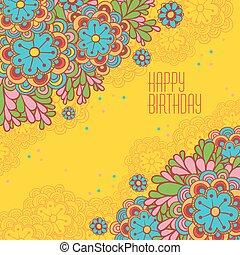 Stylish floral background.