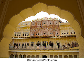 Architectural detail of city in India