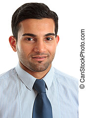 Smiling businessman professional occupation - A smiling...