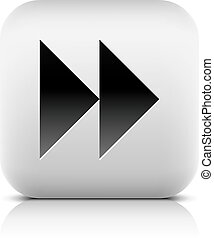Media player icon with next forward sign. Rounded square web...