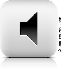 Media player icon with volume mute sign