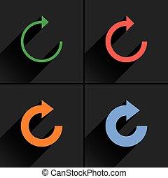 Color arrow reload, refresh, rotation, reset icon - 4 arrow...