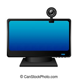web cam computer device vector illustration design