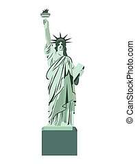 statue liberty monument isolated vector illustration design