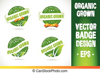 Organic grown Badge Vector Logobadge label seal stamp logo...