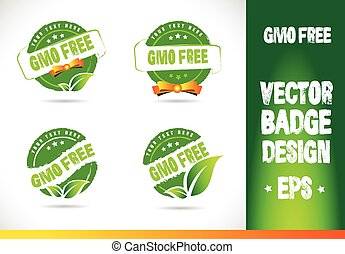 Gmo free Badge Vector - Gmo free Badge Logobadge label seal...