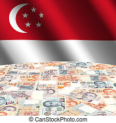 flag with Singapore dollars