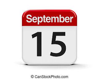 15th September - Calendar web button - The Fifteenth of...