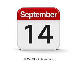 14th September - Calendar web button - The Fourteenth of...