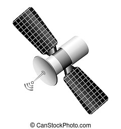 satellite communication isolated icon