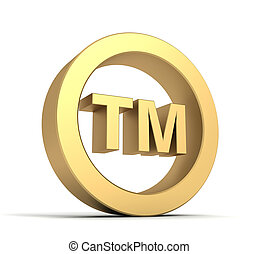 tm trade mark sign concept illustration - tm trade mark sign...