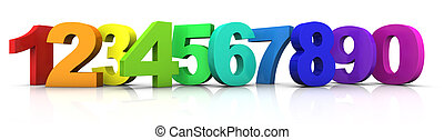 multicolored numbers - big multicolored 3d numbers from 1 to...