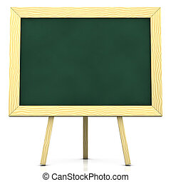 blank blackboard - 3d rendering/illustration of a blank...