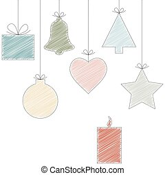 scribble christmas hangtags - christmas background with...