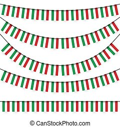 garlands with hungarian national colors - different garlands...