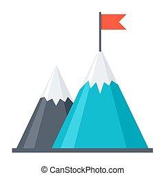 Goal Achievement Concept - Business concept goal achievement...