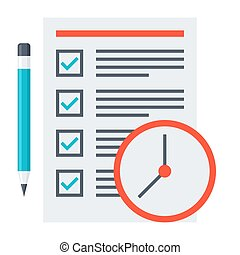 Time Management Concept - Time management concept with...