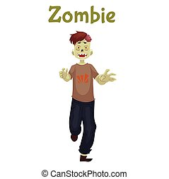 Man dressed in zombie costume for Halloween