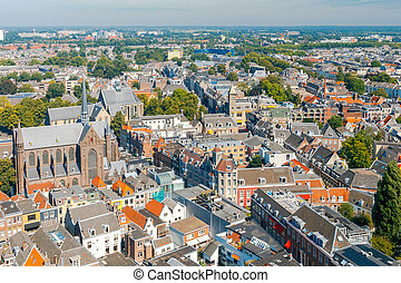 Utrecht. Aerial view of the city. - Aerial view from the...