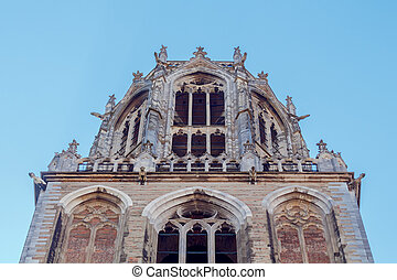 Utrecht Dom Tower - A view of the top and the observation...